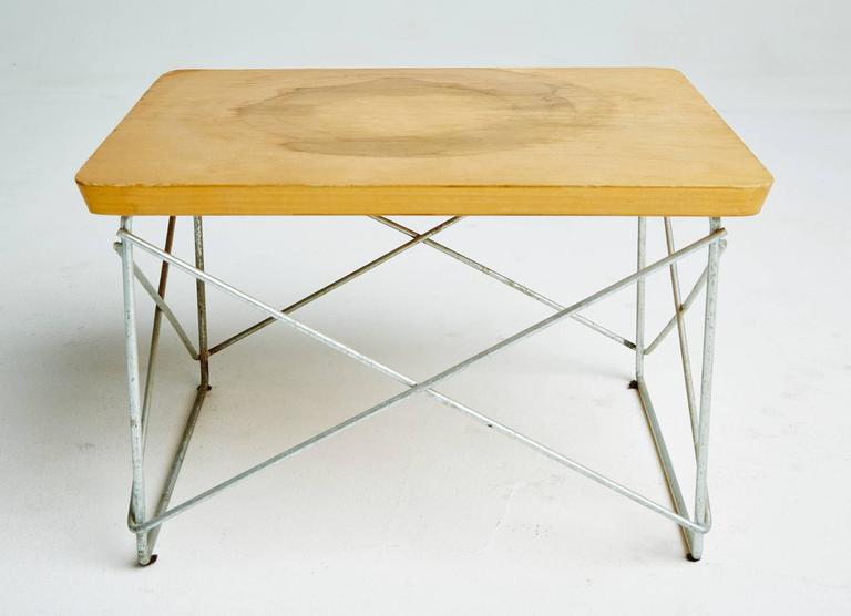 Mid-Century Modern 1950s Birch LTR Tables by Eames for Herman Miller, Early Production, Signed For Sale