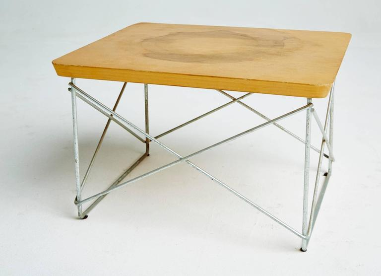 American 1950s Birch LTR Tables by Eames for Herman Miller, Early Production, Signed For Sale