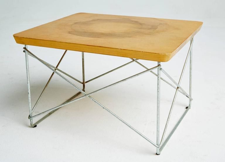 1950s Birch LTR Tables by Eames for Herman Miller, Early Production, Signed In Good Condition For Sale In Los Angeles, CA