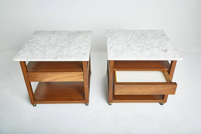 Harvey Probber Marble Side Tables Circa 1950s At 1stdibs