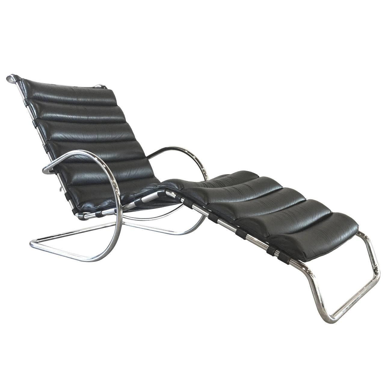 MR Chaise Lounge Chair by Ludwig Mies van der Rohe, Rare Early ...