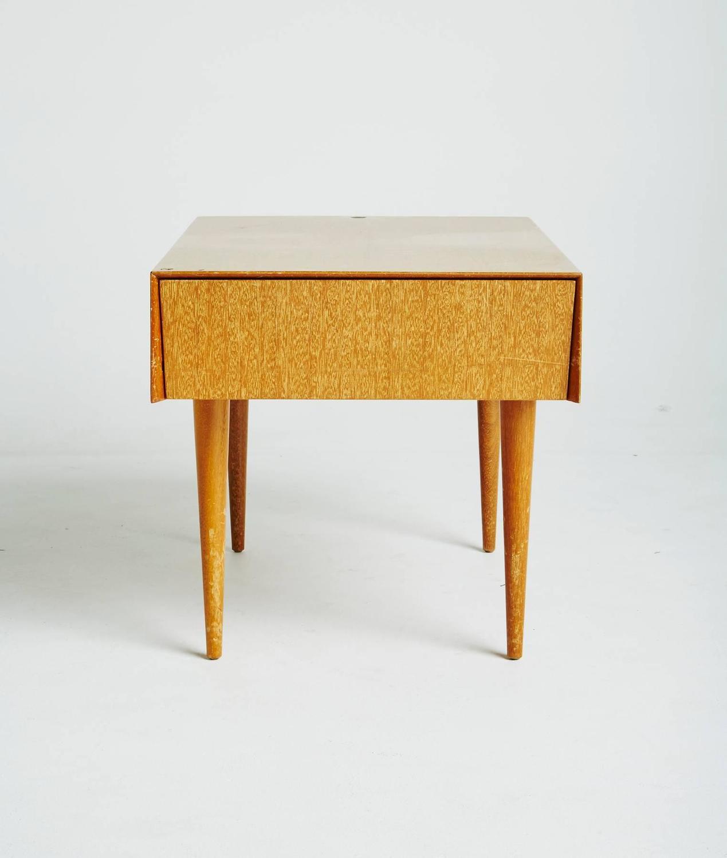 Paul Laszlo For Brown Saltman Light Ribbon Mahogany Side Table For Sale At 1stdibs