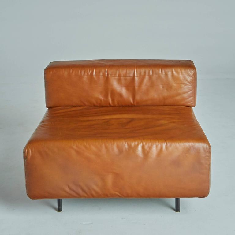 Sectional Sofa Sale Los Angeles: Harvey Probber 'Cubo' Leather Sectional Sofa Or Lounge