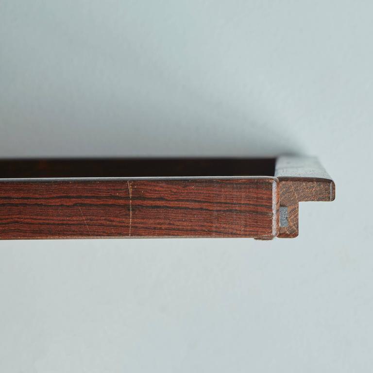 Mid-Century Modern Don Shoemaker Exotic Mixed Wood Serving / Bar Tray