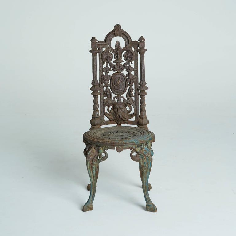 These Cast Iron Garden Chairs Are Ornate And Regal From Top To Bottom Tall