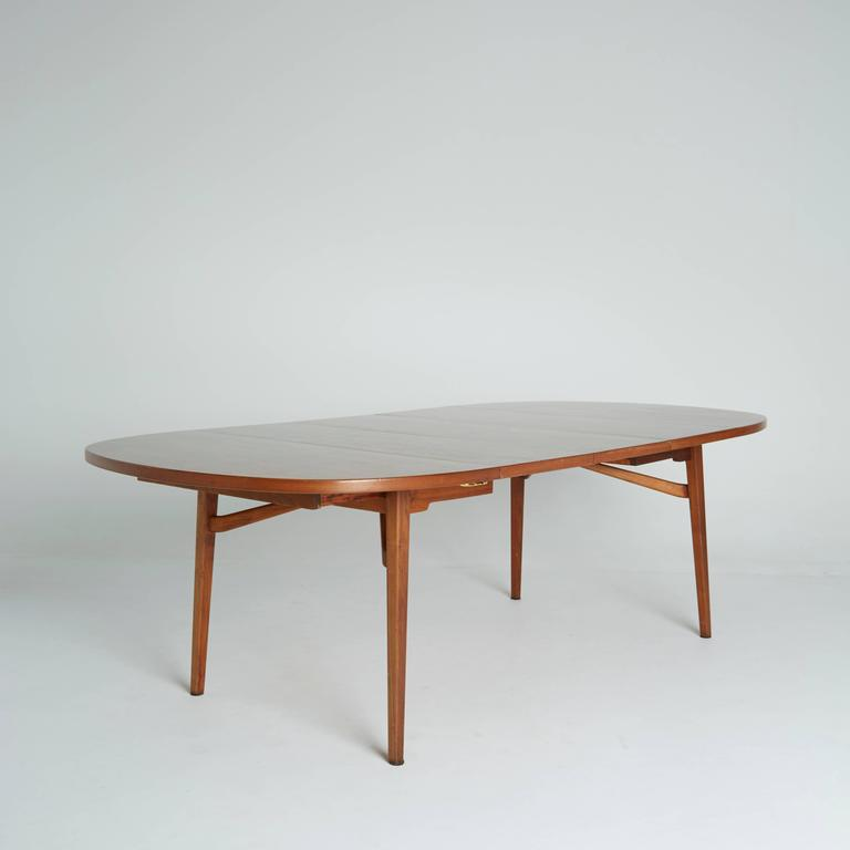 Jens Risom Teak Expandable Dining Table At 1stdibs