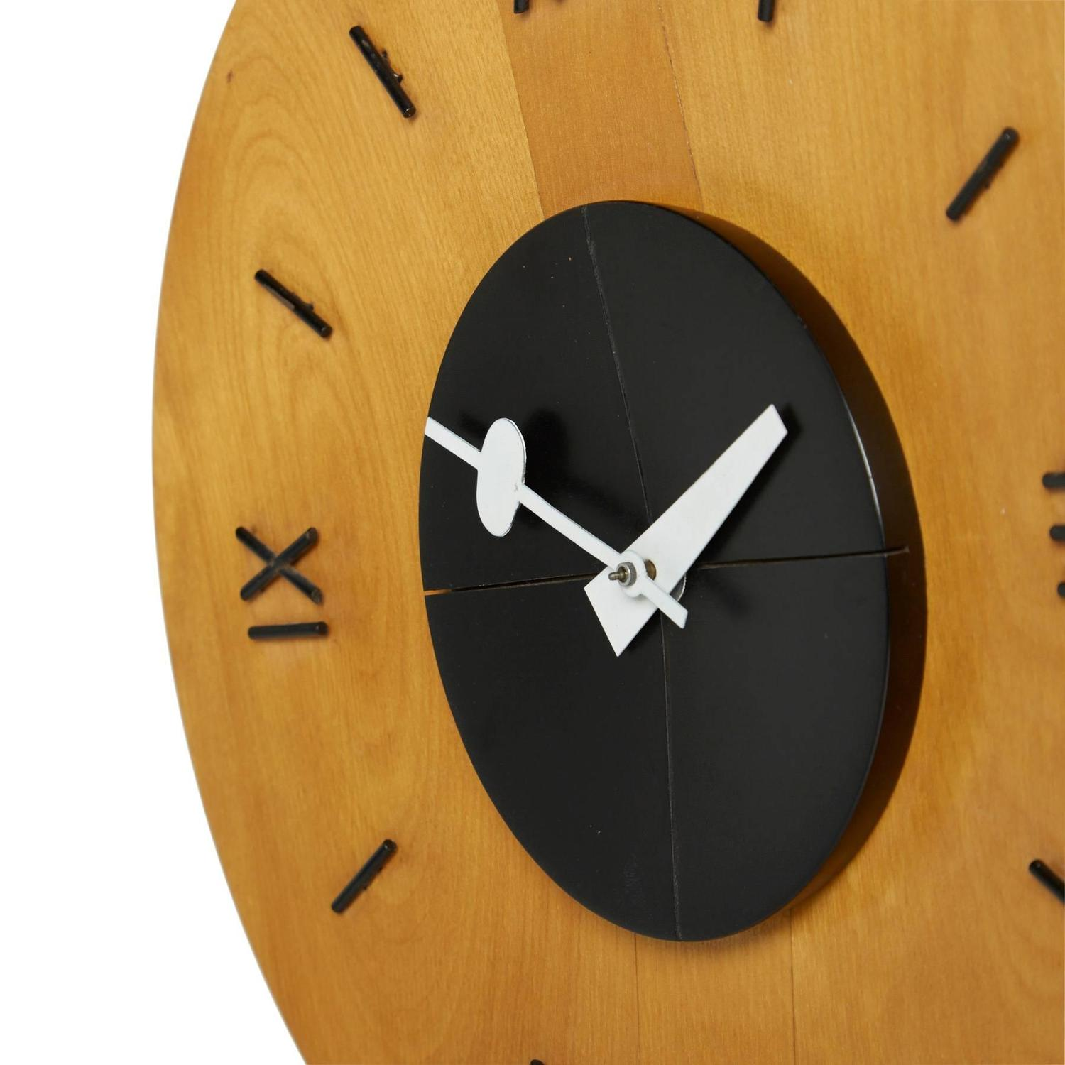 Birchwood wall clock by george nelson for howard miller for Nelson wall clock