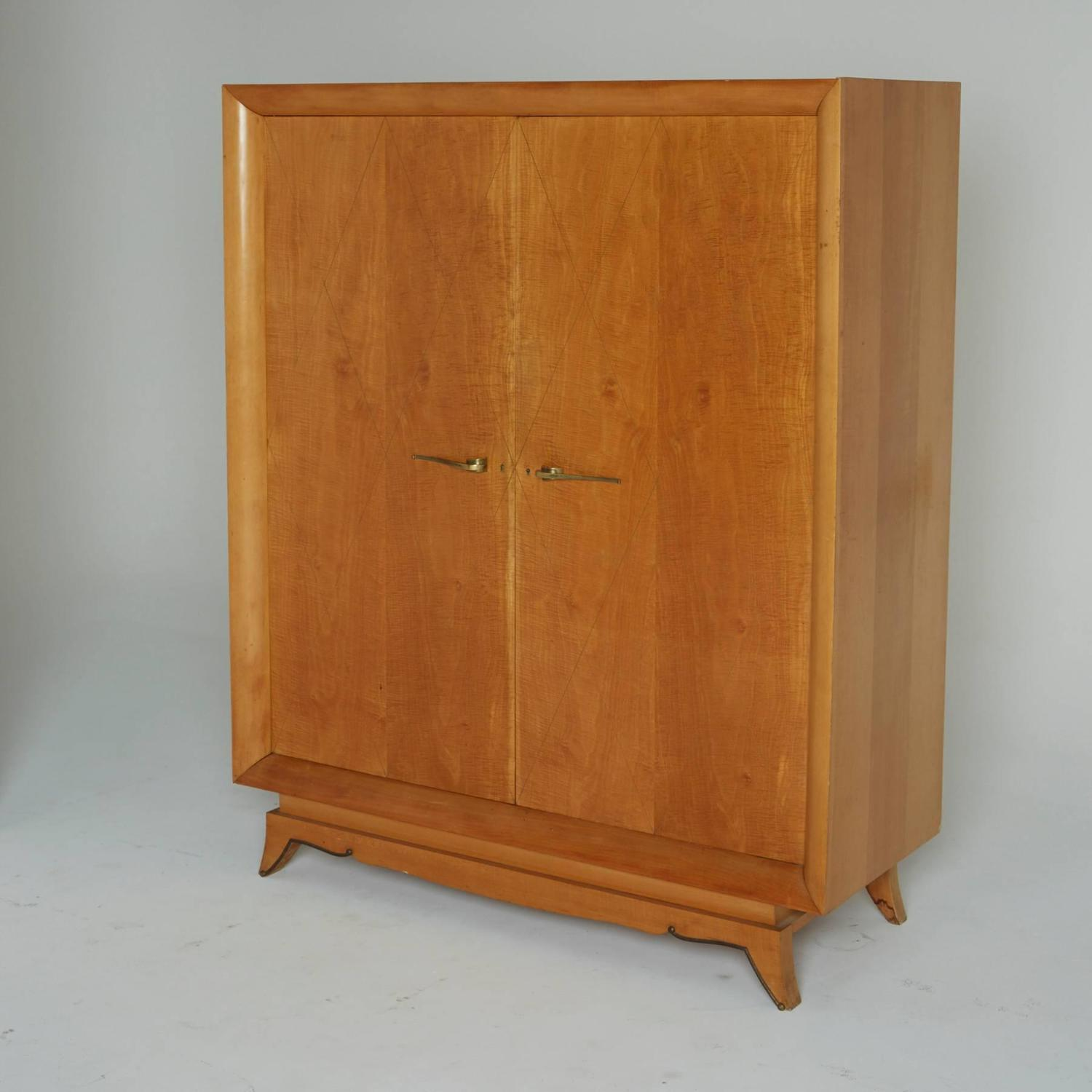 french art deco armoire circa 1930 at 1stdibs. Black Bedroom Furniture Sets. Home Design Ideas