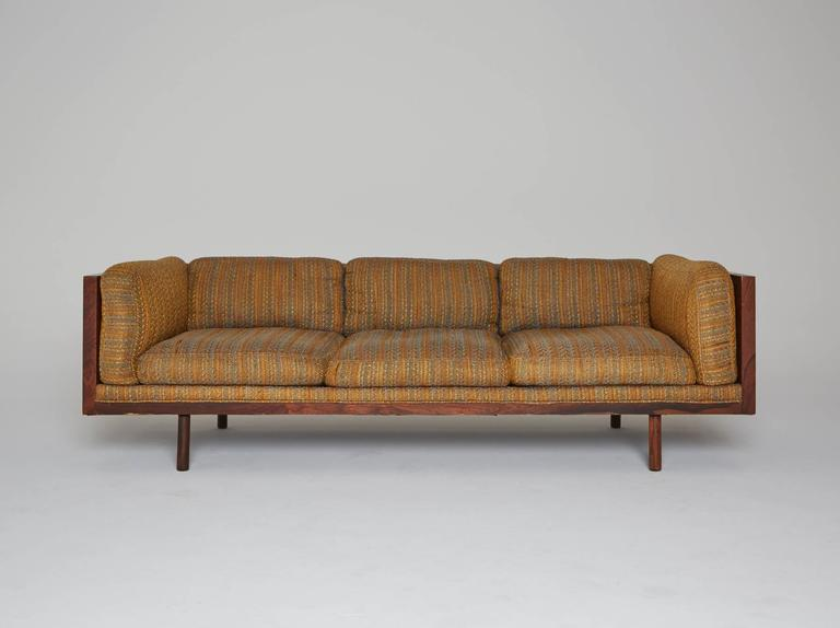 A Coveted 1960s Sofa Designed By Milo Baughman For Thayer Coggin Luxurious Rosewood Provides