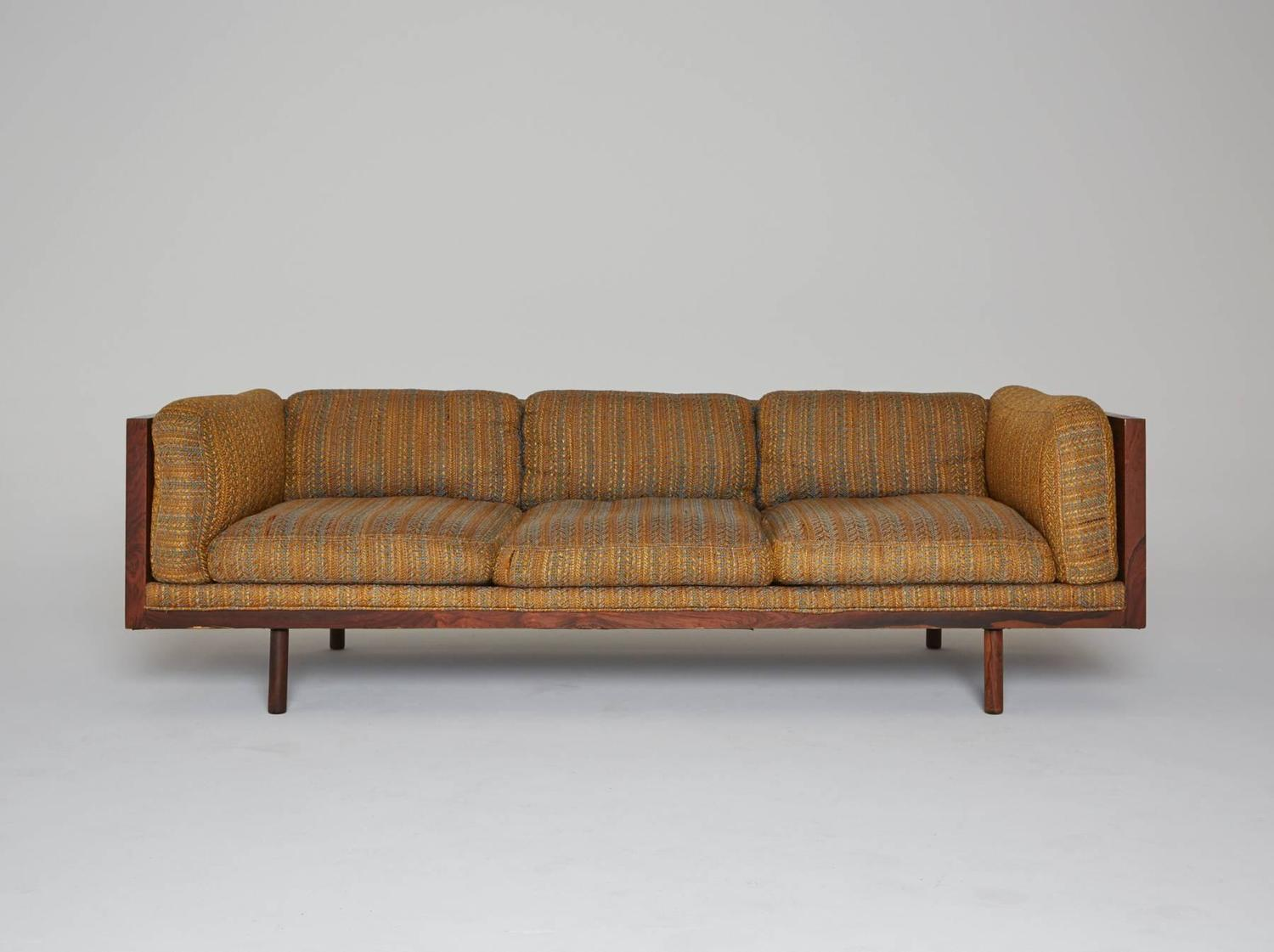 Rosewood Case Sofa By Milo Baughman For Thayer Coggin For Sale At 1stdibs
