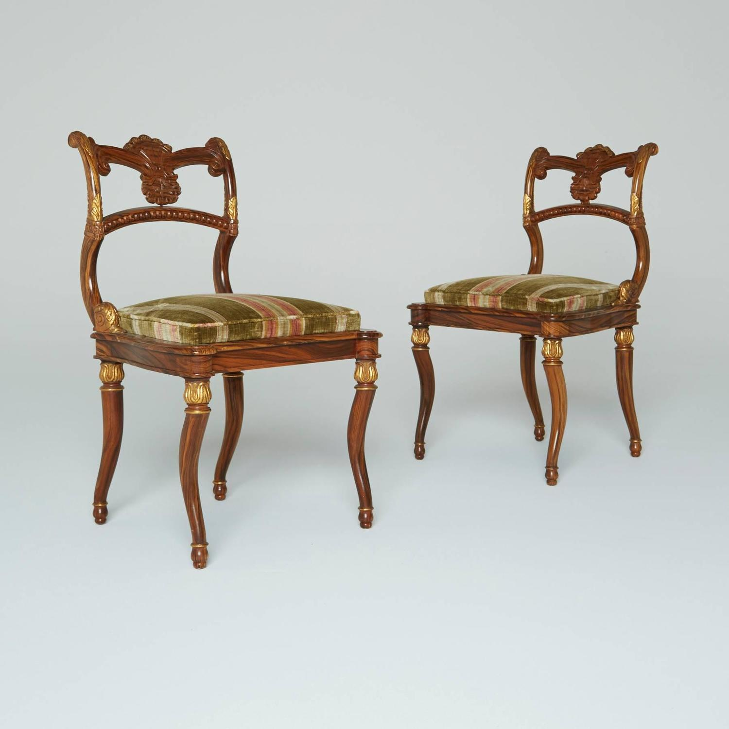 Neoclassical Gilded French Empire Style Chairs For Sale At 1stdibs