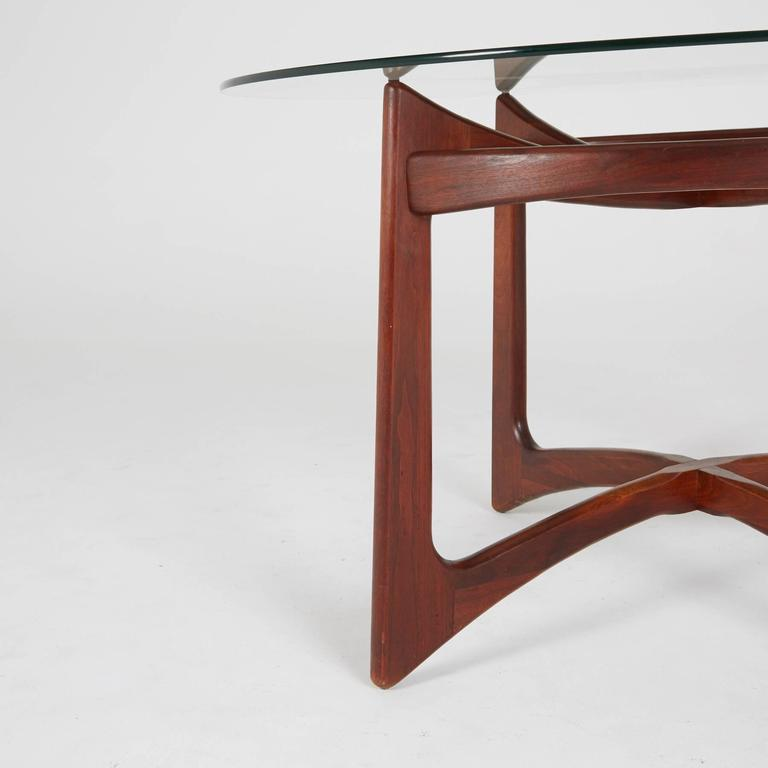 Mid-Century Modern Walnut Dining Table by Adrian Pearsall for Craft Associates, Circa 1960 For Sale