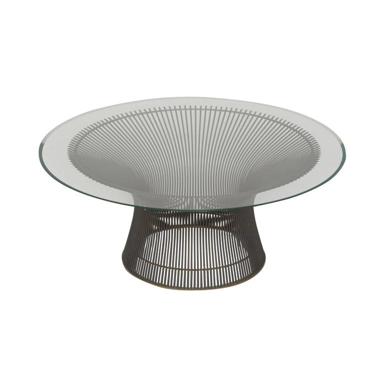 Early Production Warren Platner For Knoll International Bronze Coffee Table At 1stdibs