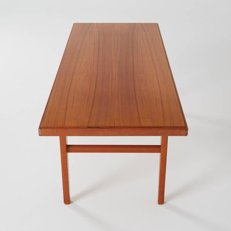 Long Danish Modern Teak Coffee Table For Sale At 1stdibs