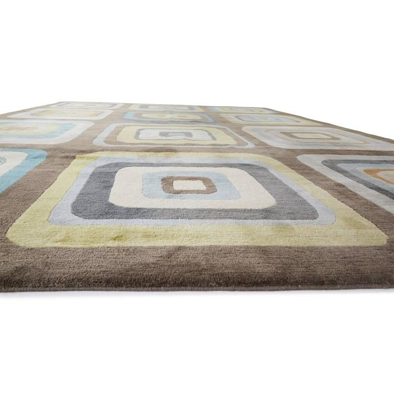 angela adams geometric custom designed wool area rug for