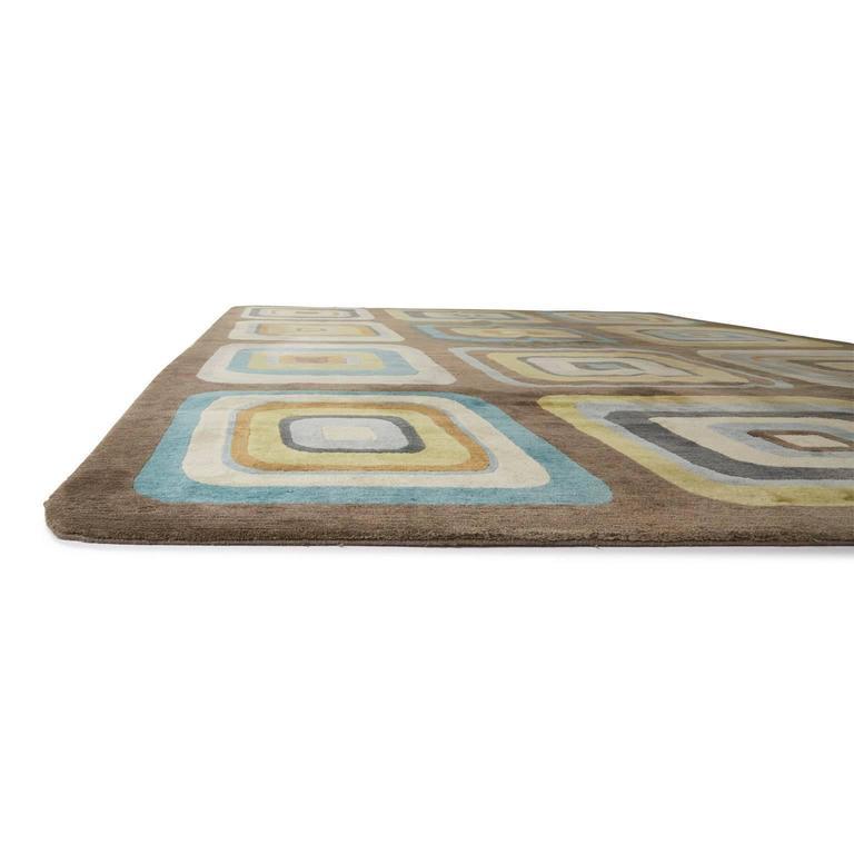 Angela Adams Geometric Custom Designed Wool Area Rug For