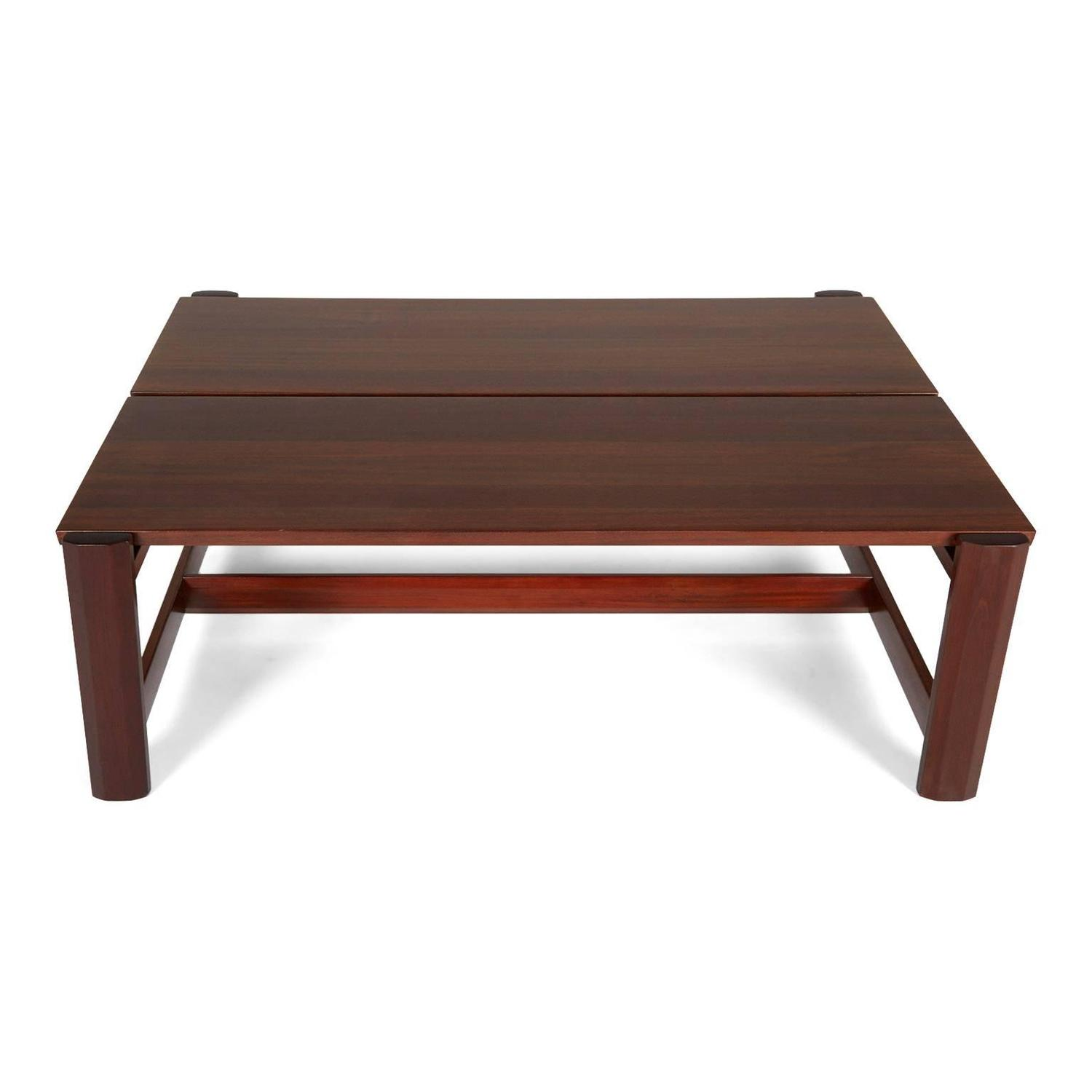 Sergio Rodrigues Large Mahogany Coffee Table For Oca Brazil For Sale At 1stdibs