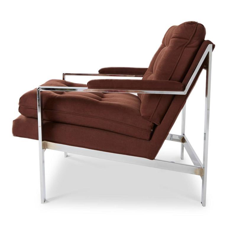 American Cy Mann Chrome Lounge Chair for Cy Mann Designs Ltd, circa 1970s For Sale