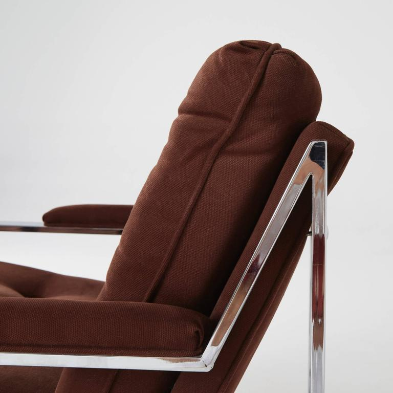 Cy Mann Chrome Lounge Chair for Cy Mann Designs Ltd, circa 1970s In Excellent Condition For Sale In Culver City, CA