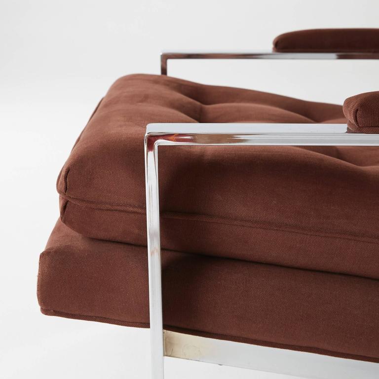 Late 20th Century Cy Mann Chrome Lounge Chair for Cy Mann Designs Ltd, circa 1970s For Sale