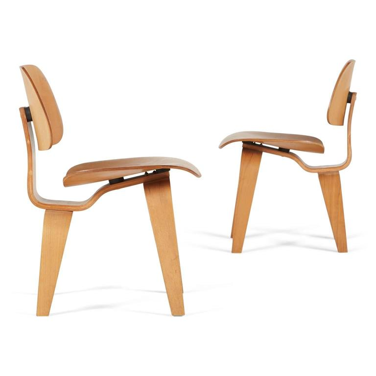 ... Molded Plywood Chairs By Charles And Ray Eames For Sale. This Pair Of  Early Example DCWu0027s Feature The 5 2 5 Screw Configuration As