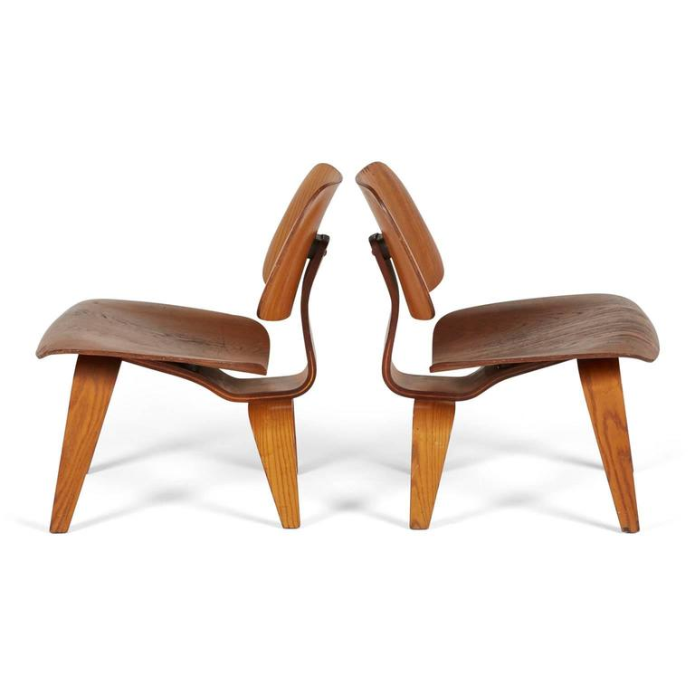 charles and ray eames lcw lounge chairs early production circa