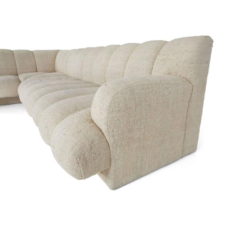 Steve Chase Channel Tufted L-Shape Sectional Sofa, 1986 6
