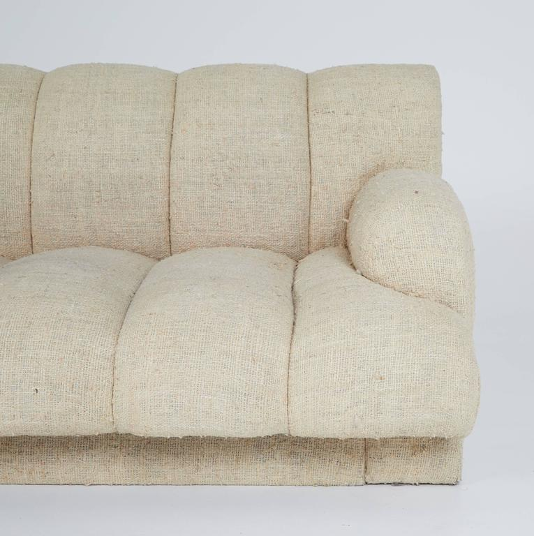 Steve Chase Channel Tufted L-Shape Sectional Sofa, 1986 8