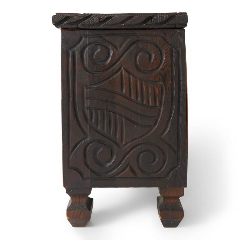William Westenhaver For Witco Exotic Carved Low Tiki