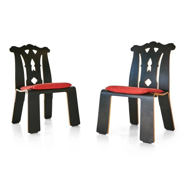 American Robert Venturi Chippendale Side Chairs for Knoll International, 1986 For Sale