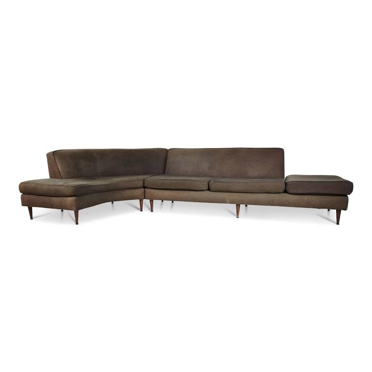 Curved Sectional Sofa Attributed To Harvey Probber Circa