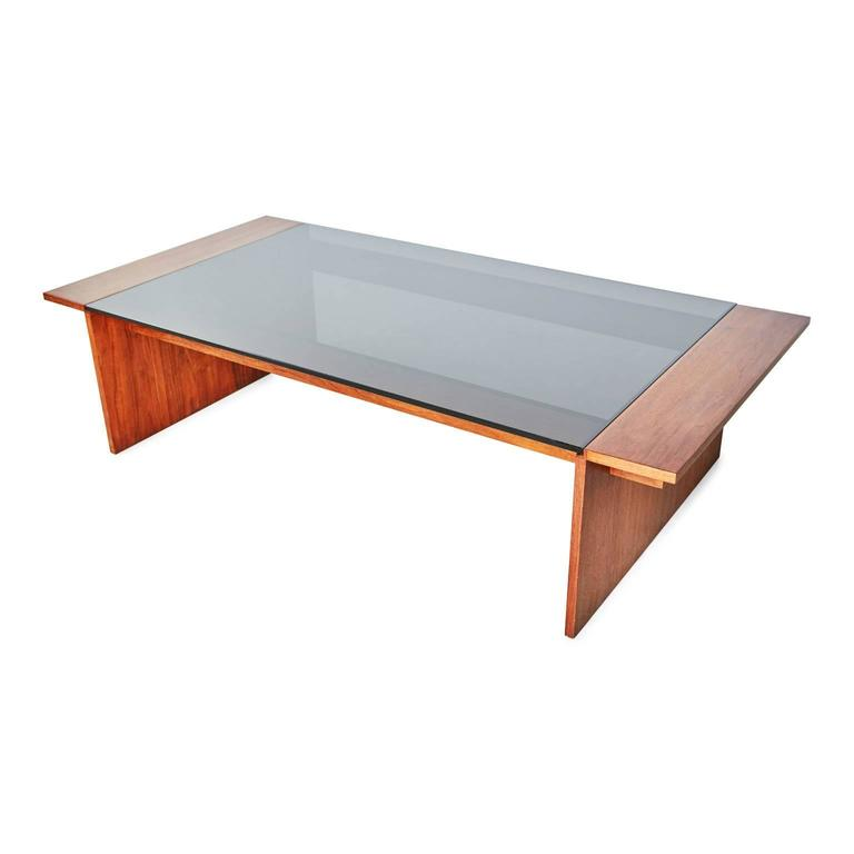 Gerald Mccabe For Brown Saltman Walnut And Smoked Glass