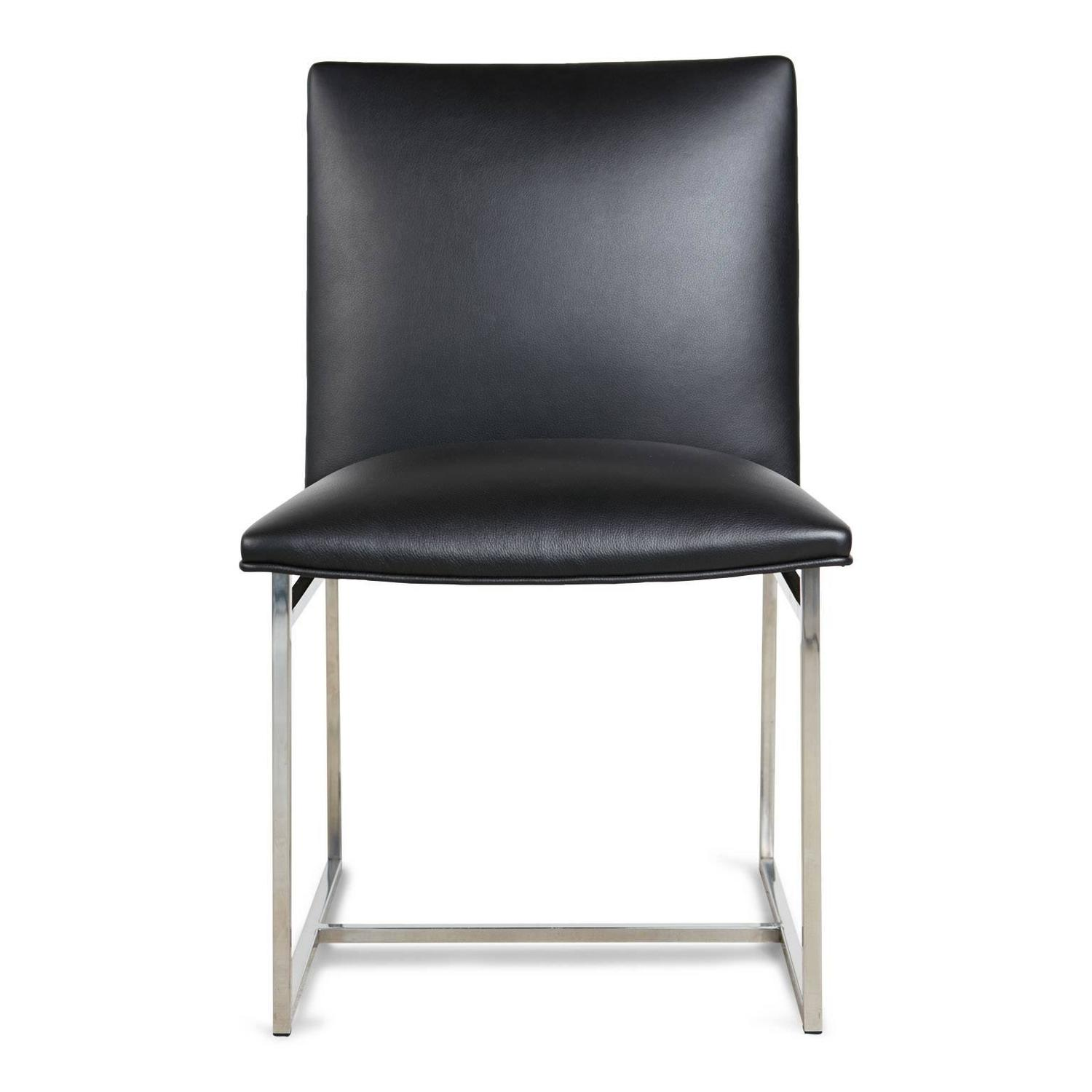 Set milo baughman 8 dining chairs reupholstered in edelman for Reupholstered chairs for sale