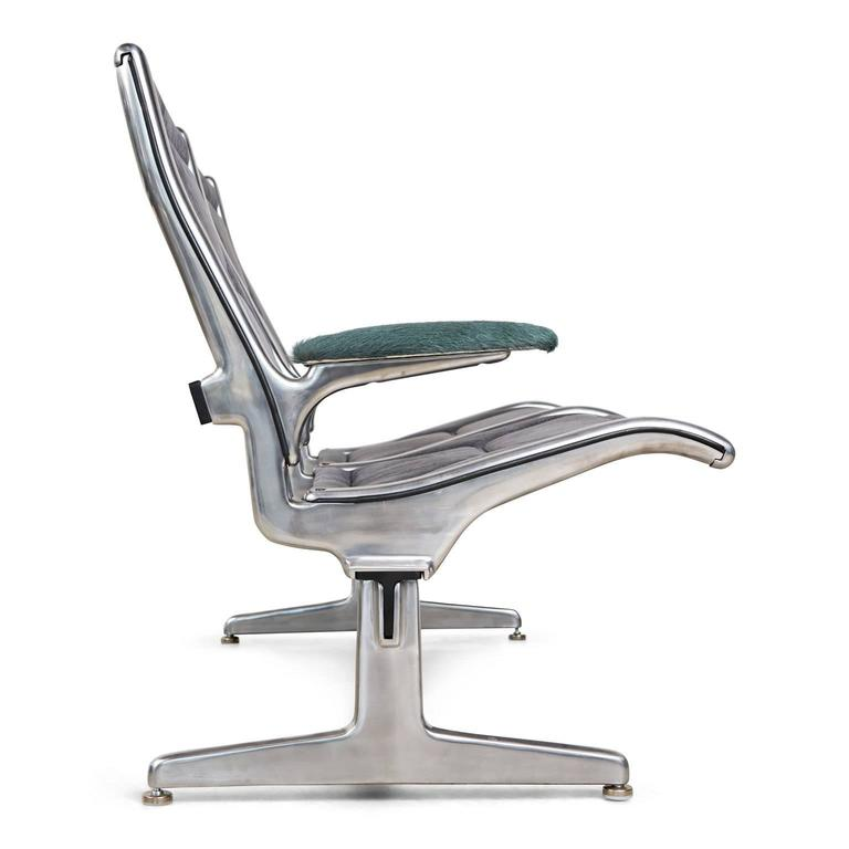 Mid-Century Modern Tandem Sling by Eames for Herman Miller, Restored in Edelman Leather, circa 1962 For Sale