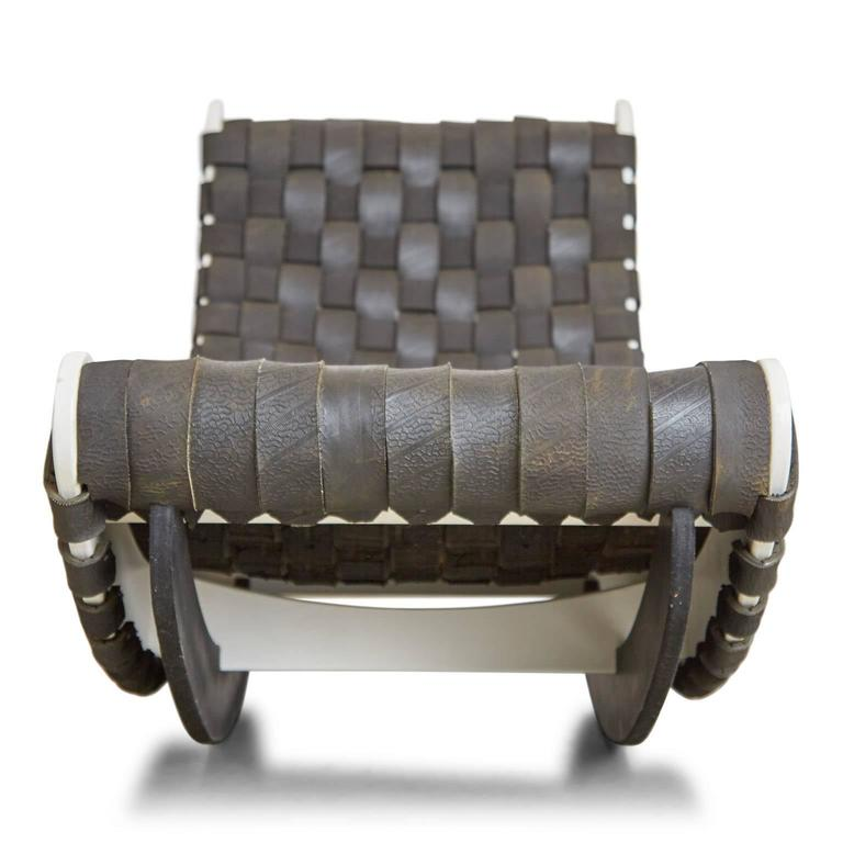 Leo Kempf Tired Lounge Woven Car Tires Rocker Or Lounger