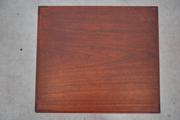 Refinished Eske Kristensen Teak Nesting Tables by Ludwig Pontoppidan, circa 1960 For Sale 1