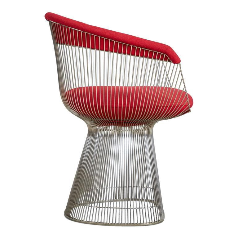 American Warren Platner Dining Armchair for Knoll International, 1981 Production Year For Sale