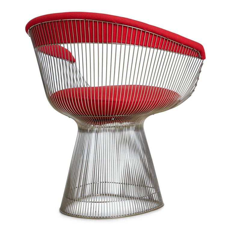 Warren Platner Dining Armchair for Knoll International, 1981 Production Year In Excellent Condition For Sale In Los Angeles, CA