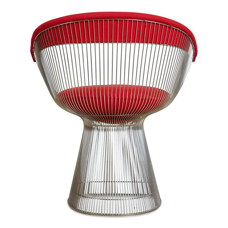 Late 20th Century Warren Platner Dining Armchair for Knoll International, 1981 Production Year For Sale