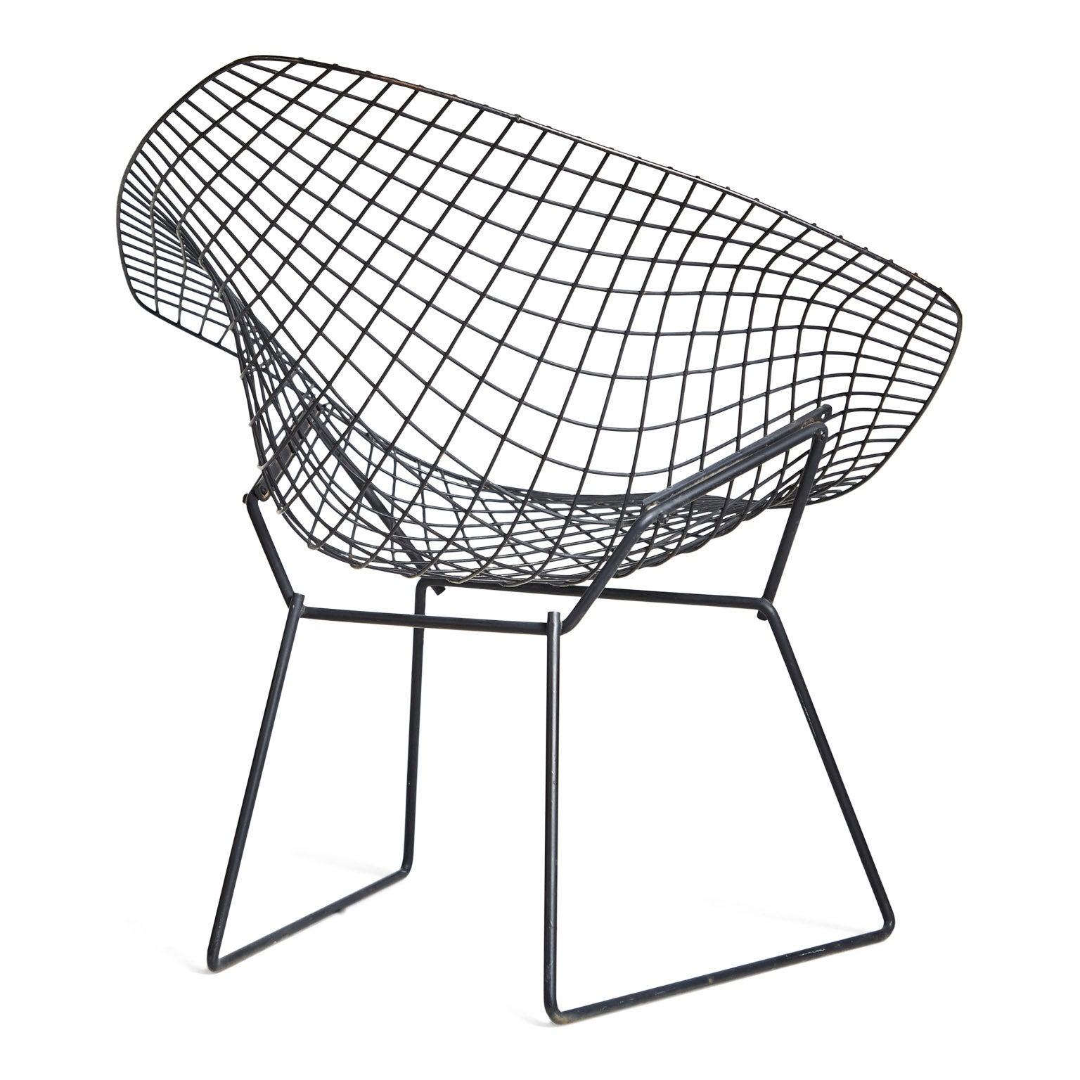harry bertoia diamond chair and ottoman for knoll at 1stdibs