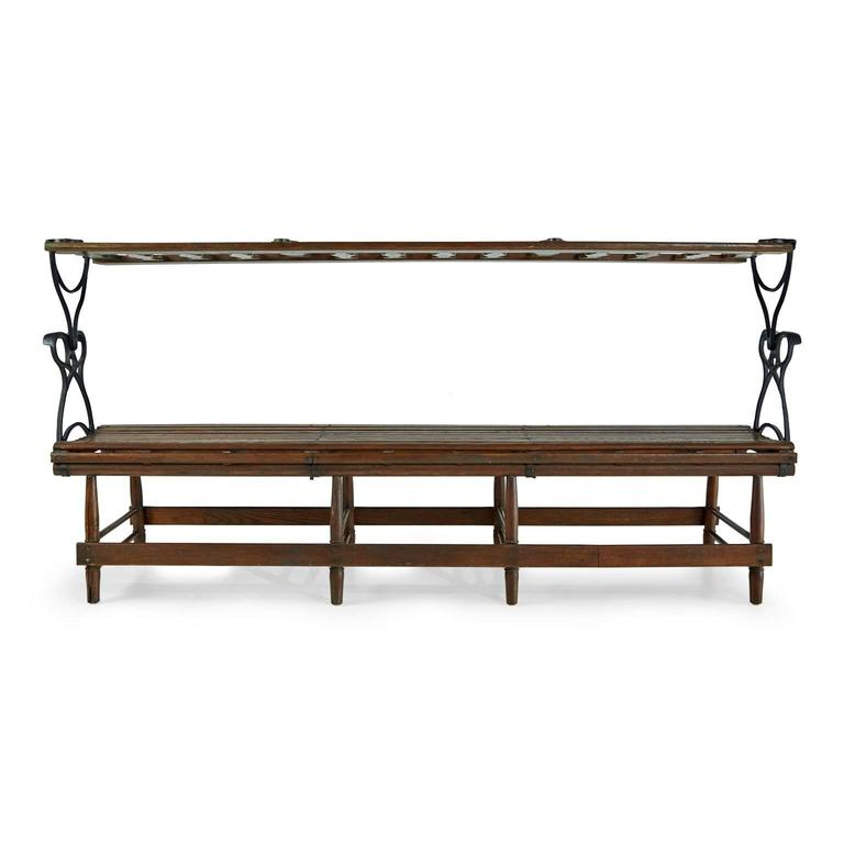 Amazing Victorian Wood And Iron Reversible Railway Bench At 1Stdibs Machost Co Dining Chair Design Ideas Machostcouk