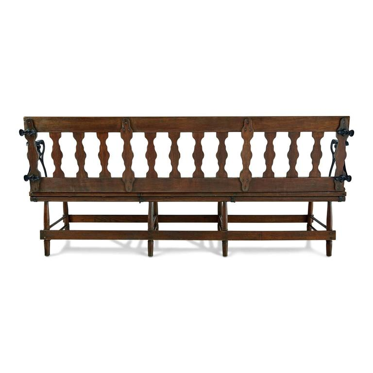 Pleasant Victorian Wood And Iron Reversible Railway Bench At 1Stdibs Machost Co Dining Chair Design Ideas Machostcouk