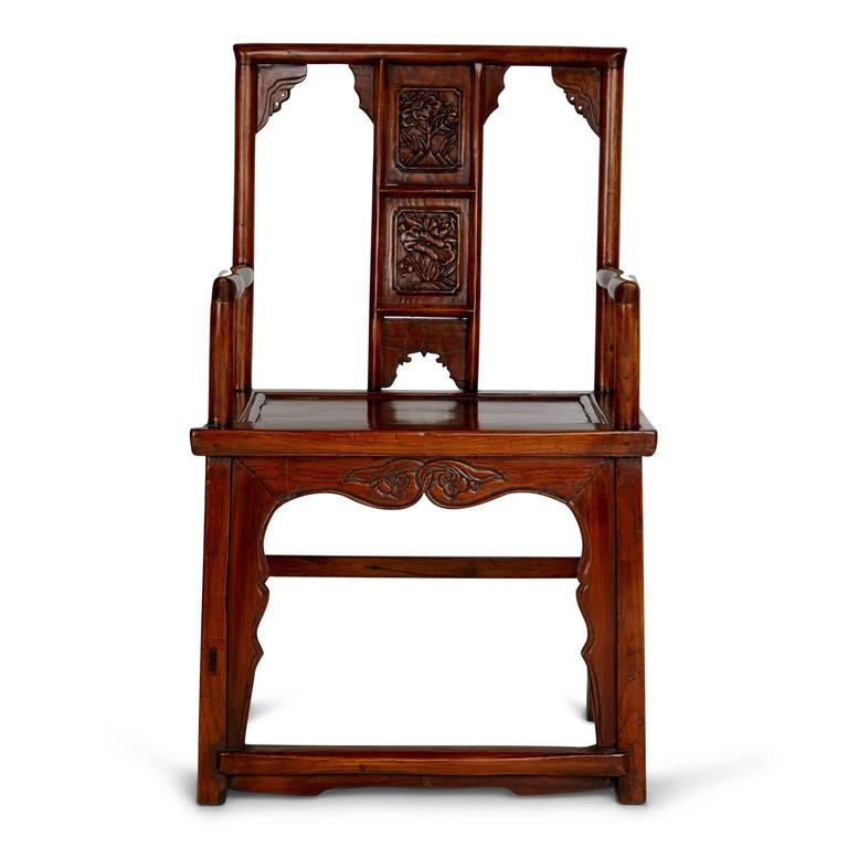 Unknown Pair of Chinese Carved Throne Armchairs For Sale