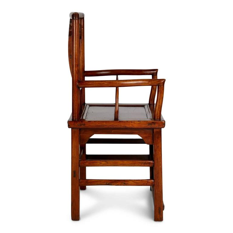 20th Century Pair of Chinese Carved Throne Armchairs For Sale