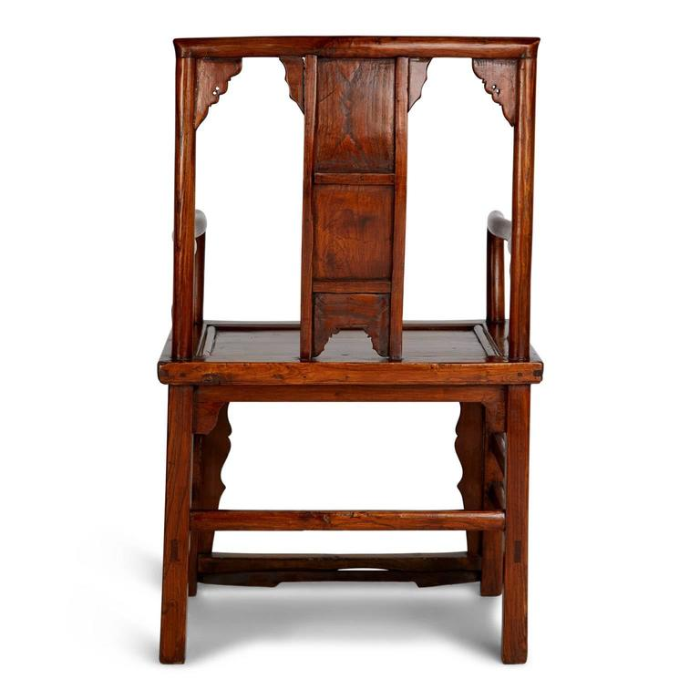 Pair of Chinese Carved Throne Armchairs For Sale 1
