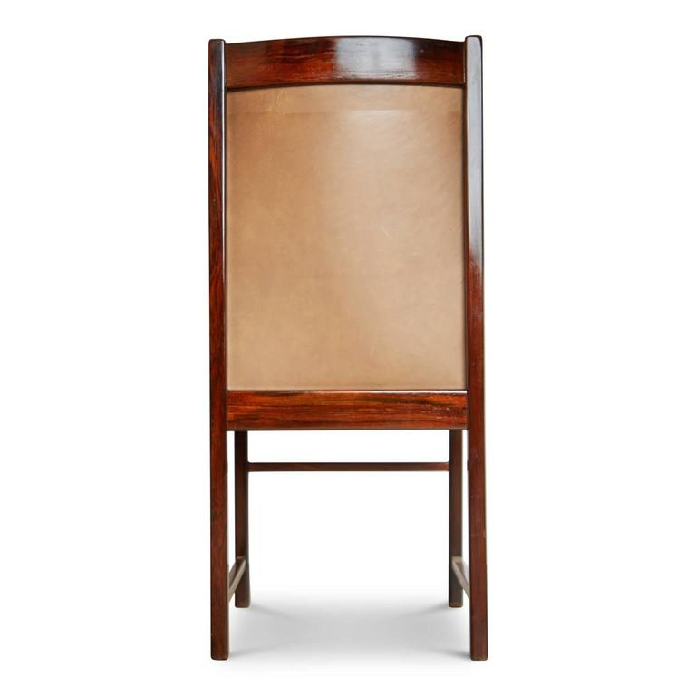 Celina Moveis Brazilian Rosewood Dining or Side Chair, circa 1960 In Excellent Condition In Los Angeles, CA