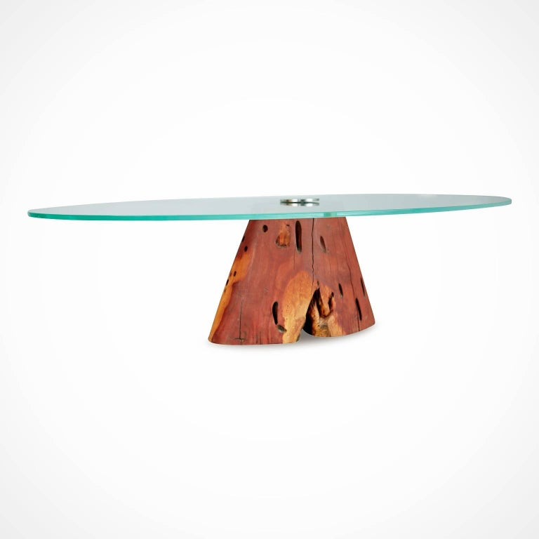 Custom Salvaged Jatoba Wood Coffee Table by Tunico T, Brazil In Excellent Condition For Sale In Los Angeles, CA