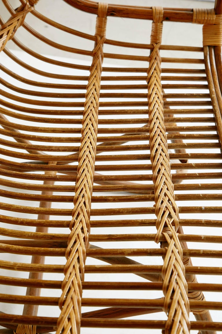 Sculptural bent bamboo settee in the style of franco for Bent bamboo furniture