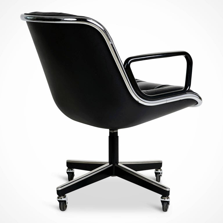 American Charles Pollock for Knoll Executive Desk Chair, circa 1980 For Sale