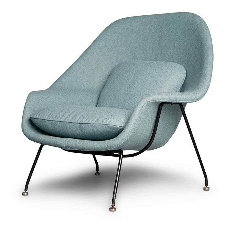 Newly upholstered womb chair and ottoman by eero saarinen for knoll circa 1950 for sale at 1stdibs - Vintage womb chair for sale ...